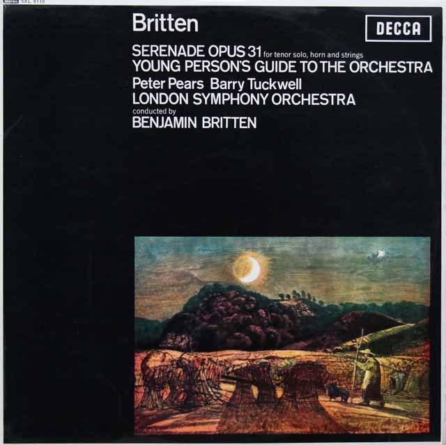 ブリテンの自作自演/青少年のための管弦楽入門ほか  英DECCA  3005 LP レコード