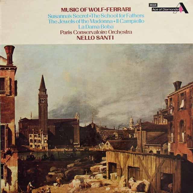 サンティのヴォルフ=フェラーリ/「スザンナの秘密」序曲ほか 英DECCA 2832 LP レコード