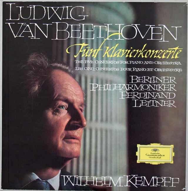 【直筆サイン入り】 ケンプ&ライトナーのベートーヴェン/ピアノ協奏曲全集 独DGG 3034 LP レコード