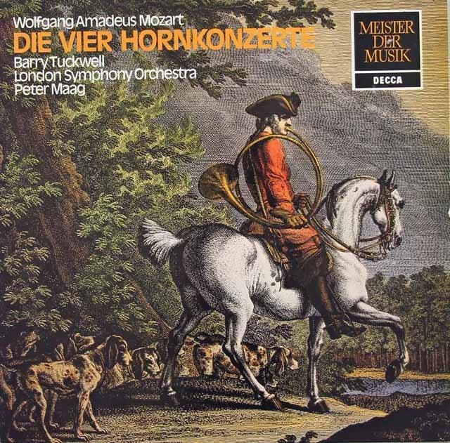 タックウェル&マークのモーツァルト/ホルン協奏曲第1~4番 独DECCA 3295 LP レコード