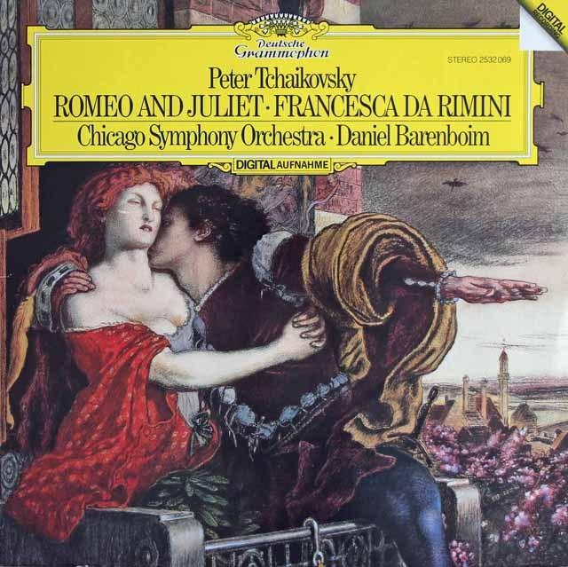 バレンボイムのチャイコフスキー/幻想序曲「ロメオとジュリエット」ほか 独DGG 3281 LP レコード