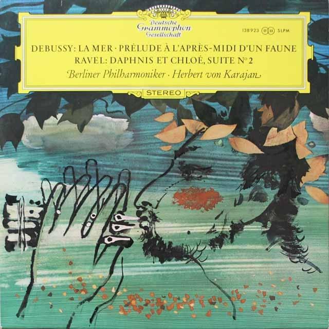 カラヤンのラヴェル/「ダフニスとクロエ」第二組曲ほか 独DGG 3332 LP レコード