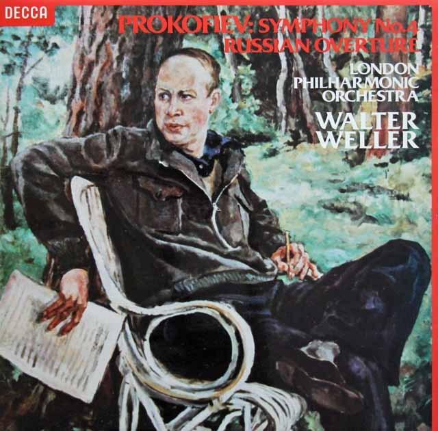 【オリジナル盤】 ウェラーのプロコフィエフ/交響曲第4番ほか 英DECCA 3005 LP レコード