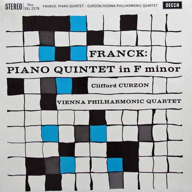 【オリジナル盤】 カーゾン&ウィーンフィル四重奏団のフランク/ピアノ五重奏曲 英DECCA 3005 LP レコード