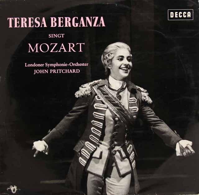 ベルガンサ、モーツァルトを歌う 独DECCA 2832 LP レコード