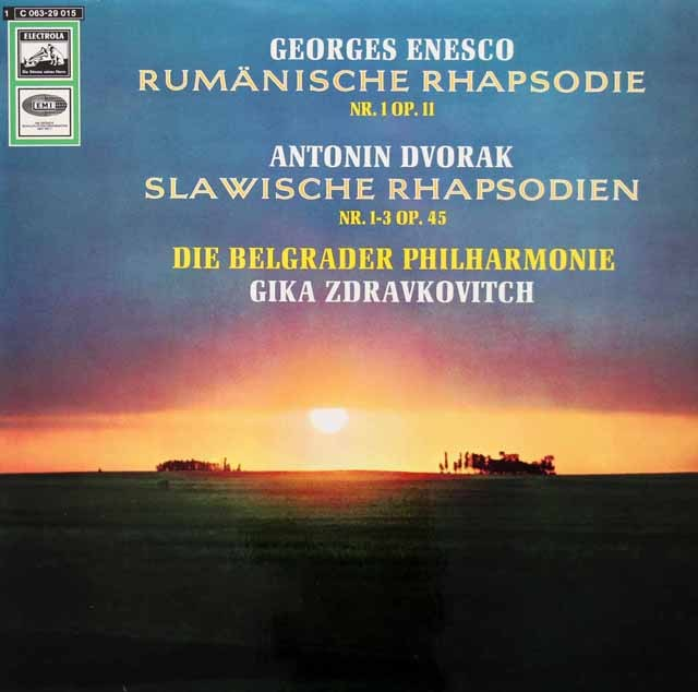 ツドラコヴィチのエネスコ/ルーマニア狂詩曲第1番ほか 独EMI 3399 LP レコード