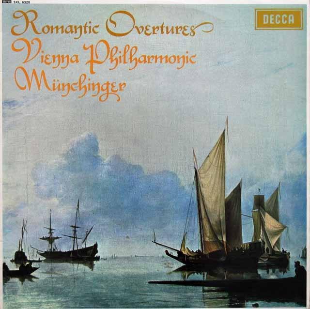 【オリジナル盤】 ミュンヒンガーのロマンティック序曲集 英DECCA 3005 LP レコード