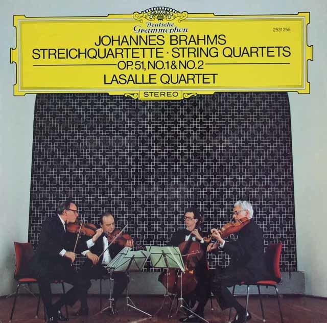 ラサール四重奏団のブラームス/弦楽四重奏曲第1&2番 独DGG 3034 LP レコード