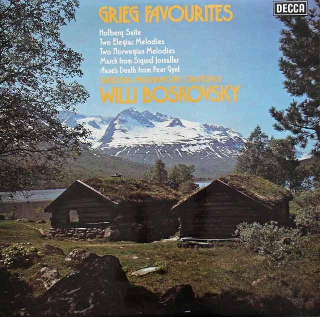 【オリジナル盤】 ボスコフスキーのグリーグ/「ホルベアの時代から」ほか 英DECCA 3005 LP レコード