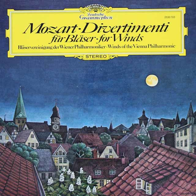 ウィーン・フィル管楽合奏団のモーツァルト/ディヴェルティメント第3&4番ほか 独DGG 3034 LP レコード