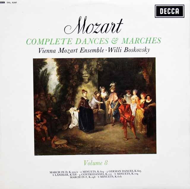 【オリジナル盤】 ボスコフスキーの「モーツァルト/舞曲と行進曲全集」(8) 英DECCA 3005 LP レコード
