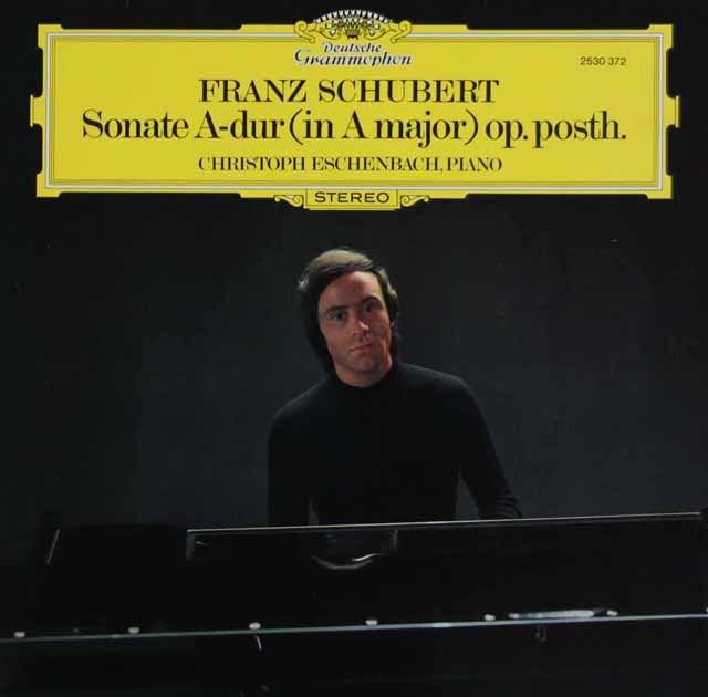 エッシェンバッハのシューベルト/ピアノソナタ第20番 独DGG 3034 LP レコード