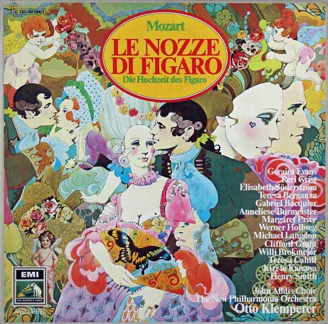 クレンペラーのモーツァルト/「フィガロの結婚」全曲 独EMI 3031 LP レコード