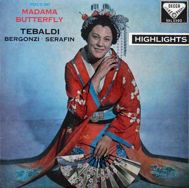 テバルディのプッチーニ/「蝶々夫人」抜粋 英DECCA 3005 LP レコード