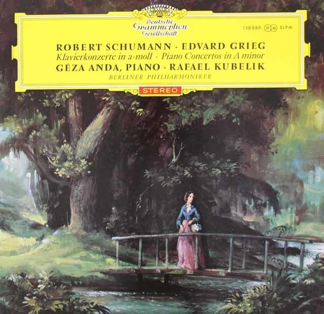 【オリジナル盤/赤ステレオ】 アンダ&クーベリックのグリーグ&シューマン/ピアノ協奏曲 独DGG 3034 LP レコード
