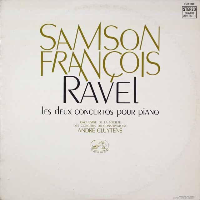 フランソワのラヴェル/ピアノ協奏曲集   仏EMI(VSM) 2633 LP レコード