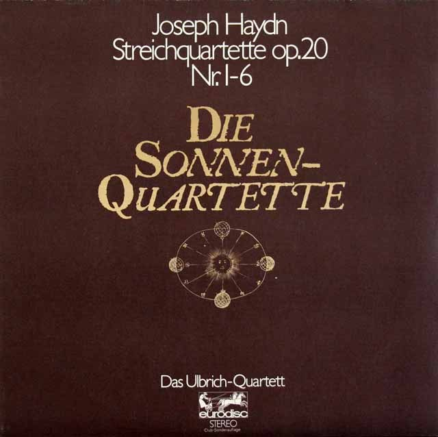 ウルブリヒ四重奏団のハイドン/「太陽四重奏曲」 独eurodisc 2930 LP レコード