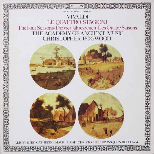 ホグウッドのヴィヴァルディ/「四季」  蘭オワゾリール 2616 LP レコード