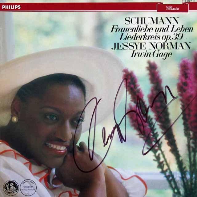 【直筆サイン入り】 ノーマンのシューマン/「女の愛と生涯」ほか 蘭PHILIPS 3285 LP レコード