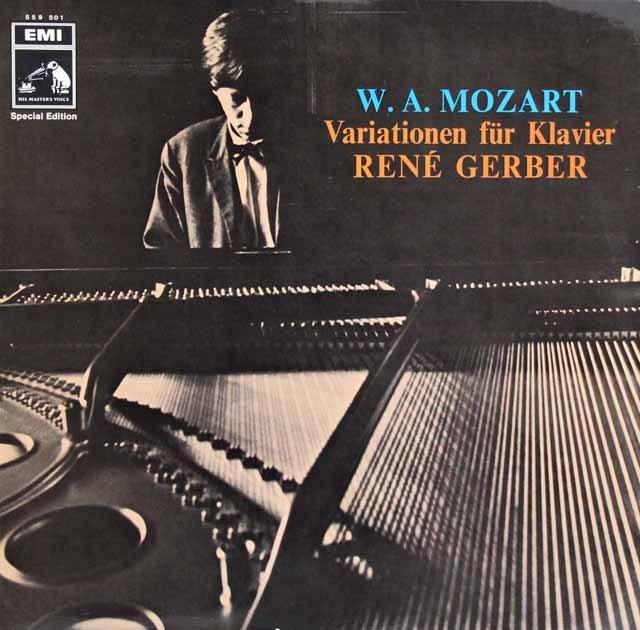 ルネ・ゲルバーのモーツァルト/12の変奏曲変ホ長調ほか スイスEMI 2932 LP レコード