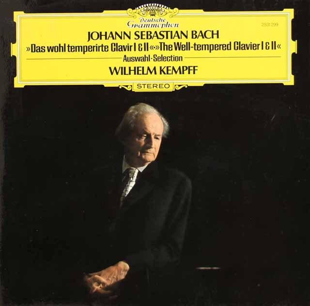 ケンプのバッハ/平均律クラヴィーア曲集第1&2巻より 独DGG 3295 LP レコード