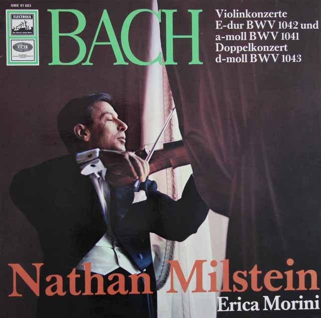 ミルシュタイン&モリーニのバッハ/2つのヴァイオリンのための協奏曲ほか 独EMI 2932 LP レコード