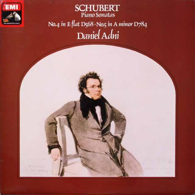 アドニのシューベルト/ピアノソナタ第4、5番 英EMI 3332 LP レコード