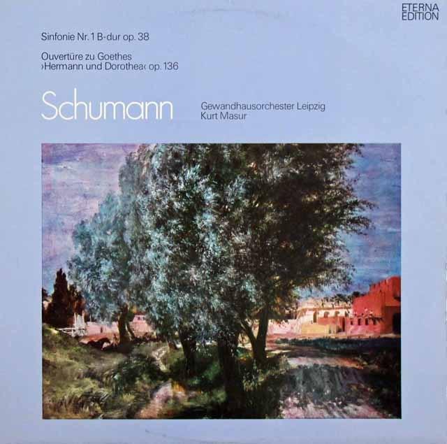 マズアのシューマン/交響曲第1番「春」ほか 独ETERNA 2930 LP レコード