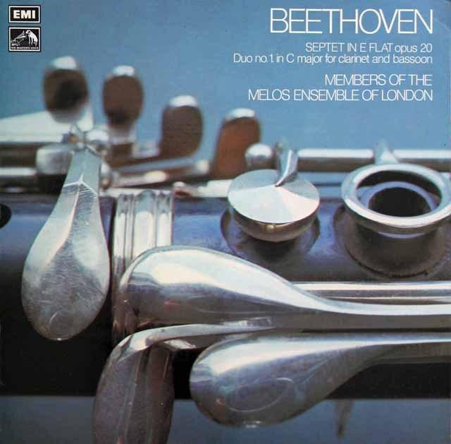 メロス・アンサンブルのベートーヴェン/七重奏曲ほか 英EMI 3398 LP レコード