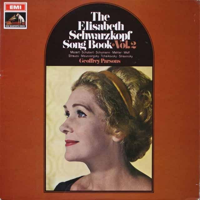 【オリジナル盤】 シュヴァルツコップ・ソングブック VOL.2 英EMI 3332 LP レコード