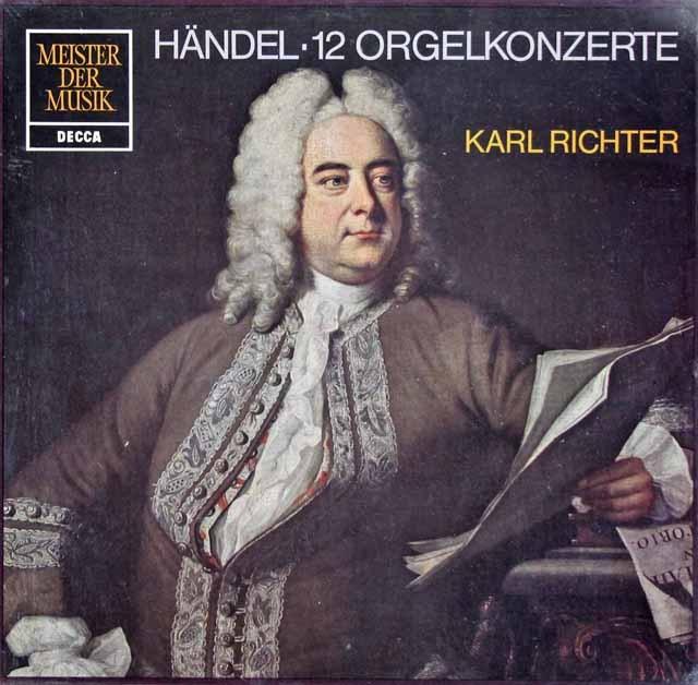【未開封】 リヒターのヘンデル/オルガン協奏曲第1&3集 独DECCA 3281 LP レコード