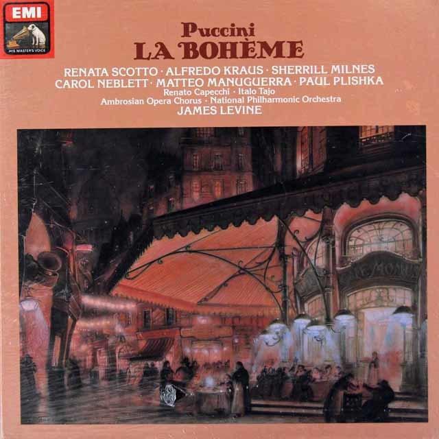 【未開封】 レヴァインのプッチーニ/「ラ・ボエーム」全曲 独EMI 3034 LP レコード