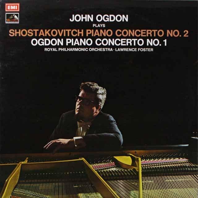 【オリジナル盤】 オグドン、フォスターのショスタコーヴィチ/ピアノ協奏曲第2番ほか 英EMI 3332 LP レコード