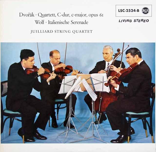 ジュリアード四重奏団のドヴォルザーク/弦楽四重奏曲第11番ほか 独RCA 2930 LP レコード