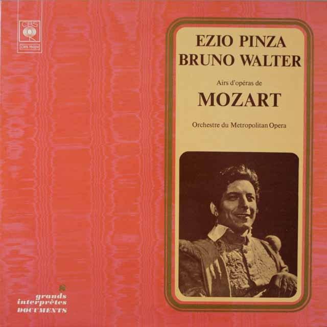 ピンツァ&ワルターのモーツァルト/アリア集  仏CBS  2633 LP レコード