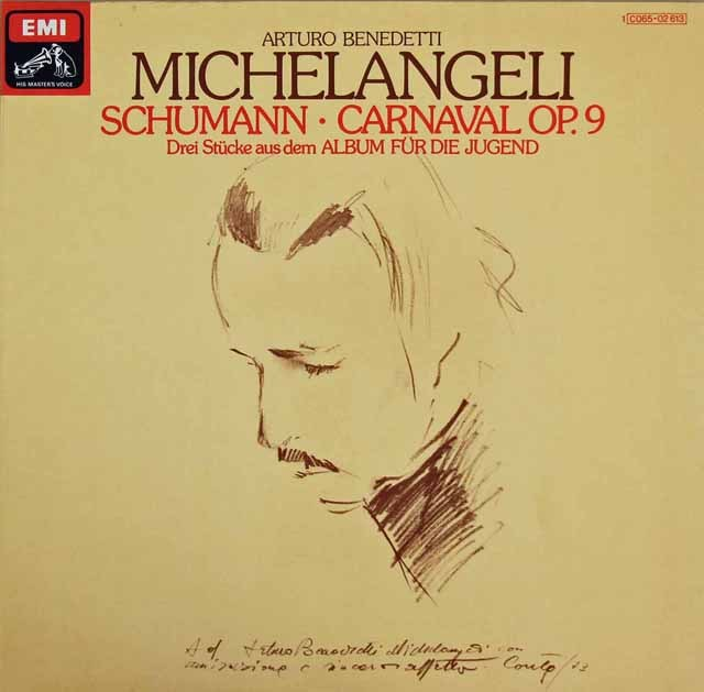 ミケランジェリのシューマン/「謝肉祭」ほか 独EMI 3295 LP レコード
