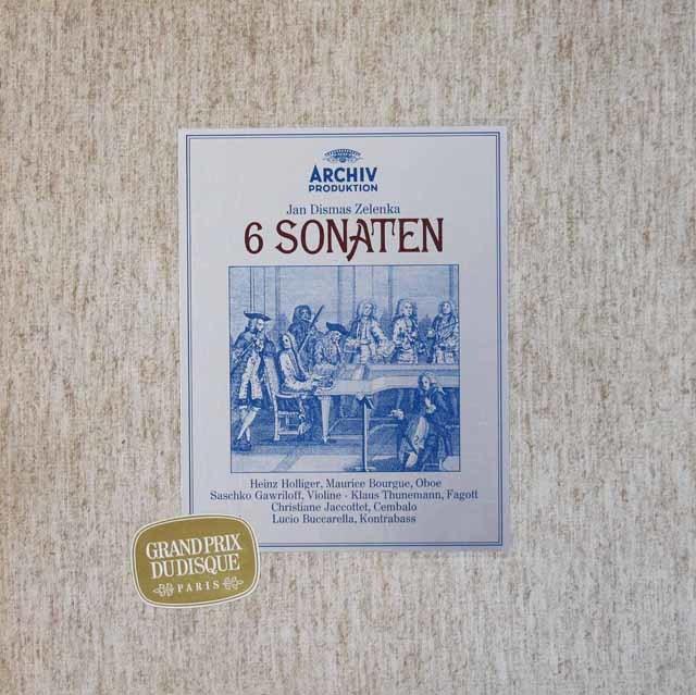 ホリガーらのゼレンカ/6つのトリオ・ソナタ集 独ARCHIV 3034 LP レコード