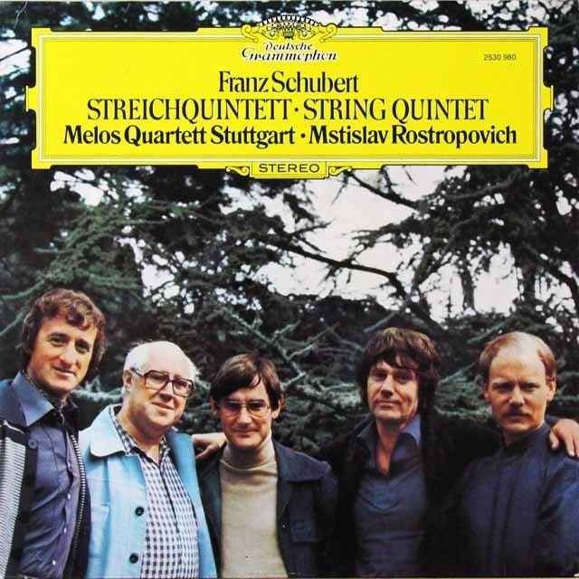 ロストロポーヴィチ&メロス四重奏団のシューベルト/弦楽五重奏曲 独DGG 3222 LP レコード