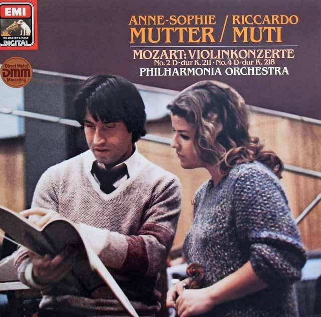 ムター&ムーティのモーツァルト/ヴァイオリン協奏曲第2&4番 独EMI 3398 LP レコード