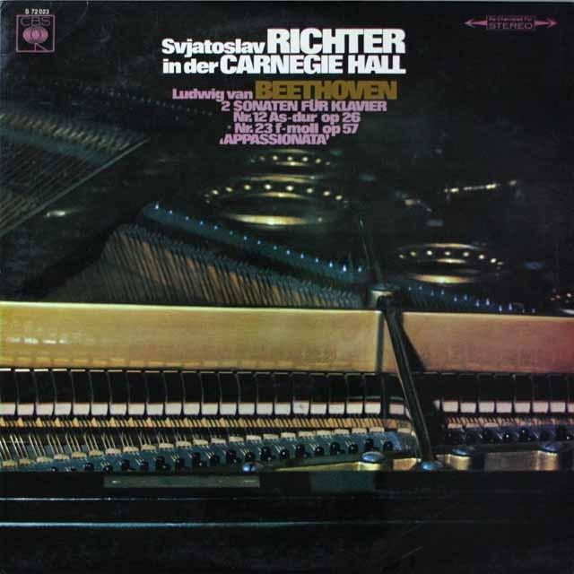 リヒテルのカーネギーホール・ライヴ(2)  ベートーヴェン/「熱情」ほか ン独CBS  2633 LP レコード