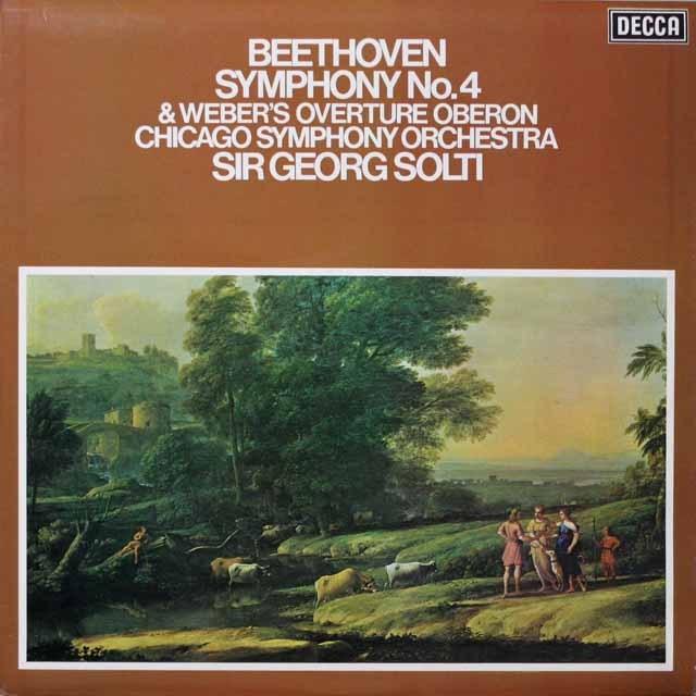 【オリジナル盤】ショルティのベートーヴェン/交響曲第4番ほか 英DECCA 2616 LP レコード