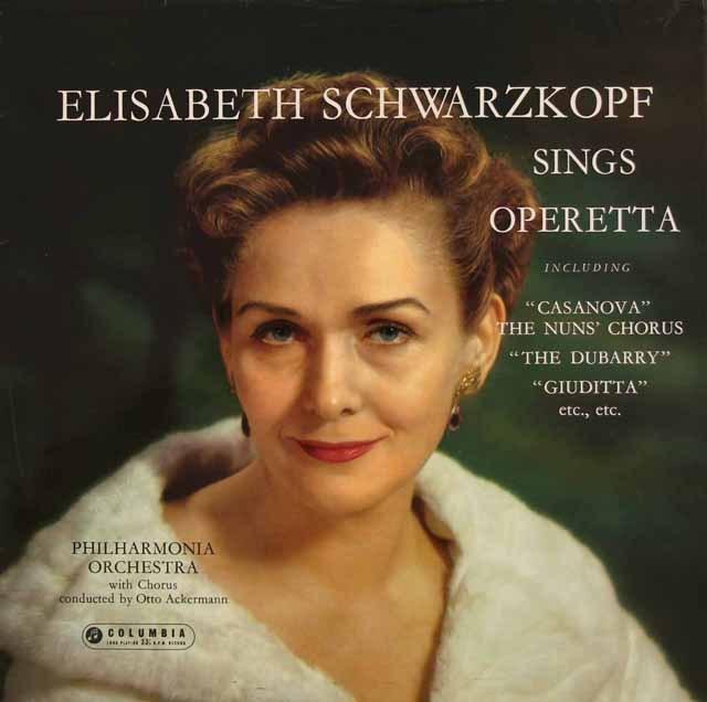 シュヴァルツコップ、オペレッタを歌う 英Columbia 2832 LP レコード