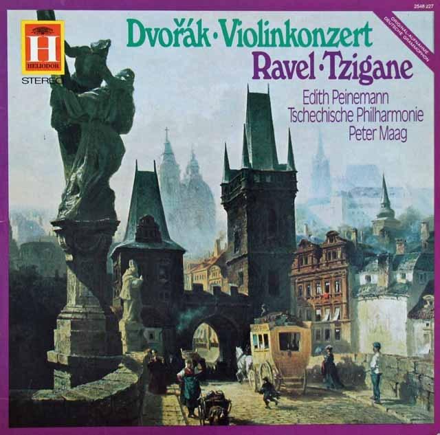 パイネマンのドヴォルザーク/ヴァイオリン協奏曲 独HELIODOR 2912 LP レコード