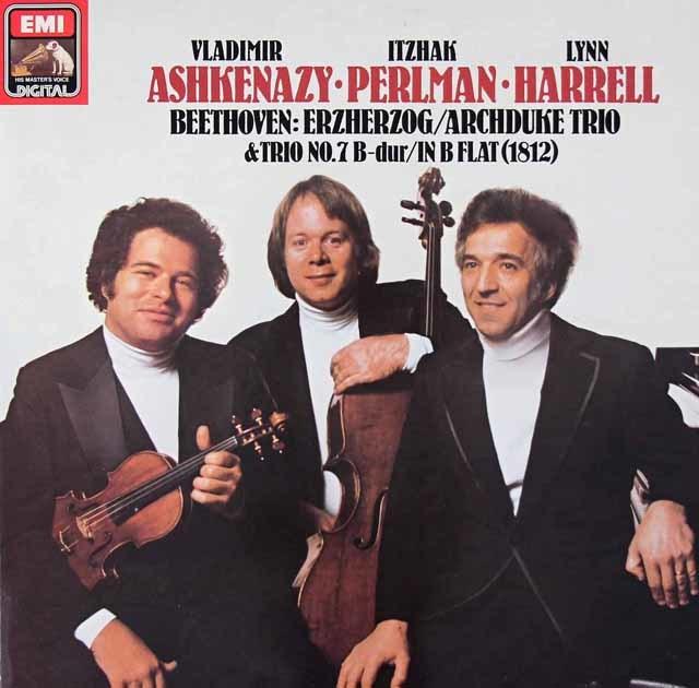パールマン、アシュケナージ&ハリルのベートーヴェン/ピアノ三重奏曲「大公」ほか 独EMI  3019 LP レコード