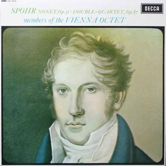 ウィーン八重奏団のシュポーア/九重奏曲ほか 英DECCA 3332 LP レコード