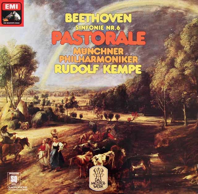 ケンペのベートーヴェン/交響曲第6番「田園」 独EMI  3019 LP レコード