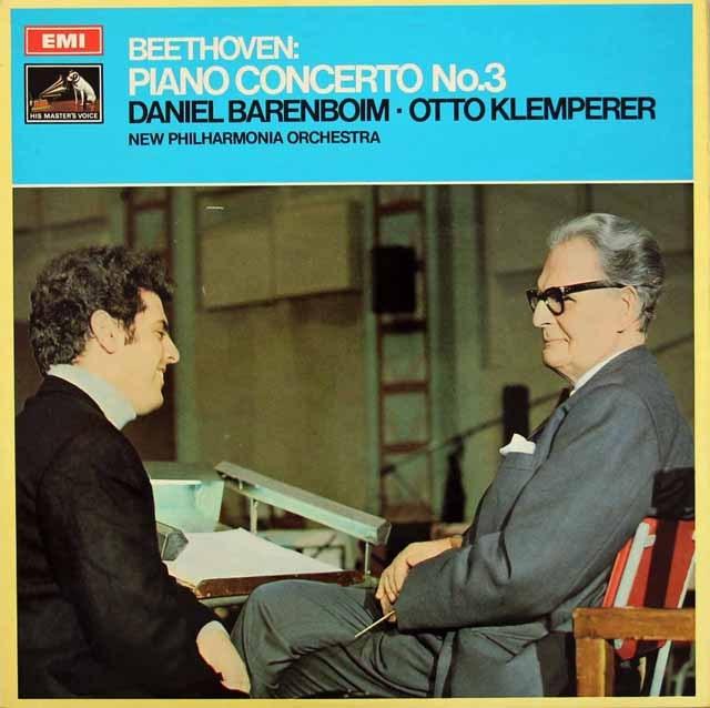 バレンボイム&クレンペラーのベートーヴェン/ピアノ協奏曲第3番ほか 英EMI 2832 LP レコード