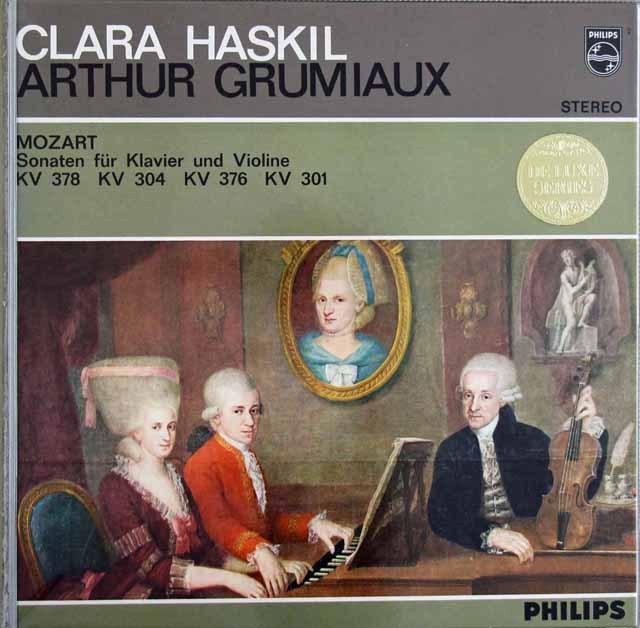 グリュミオー&ハスキルのモーツァルト/ヴァイオリンソナタ集  蘭PHILIPS  2912 LP レコード