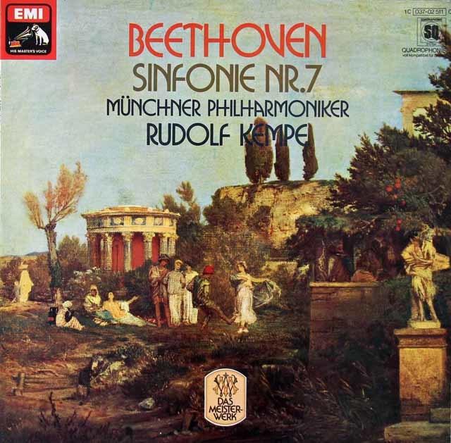 ケンペのベートーヴェン/交響曲第7番 独EMI  3019 LP レコード