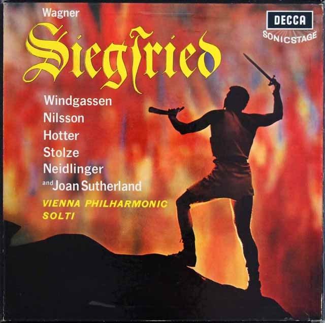 【モノラル】 ショルティのワーグナー/「ジークフリート」 英DECCA 3399 LP レコード
